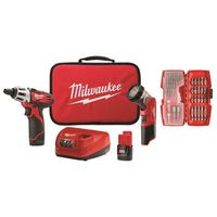Milwaukee Tool - 2482-22 M12 Screwdriver and LED Worklight Kit with Bit Set