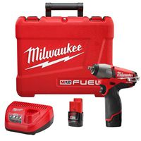 "Milwaukee Tool - 2454-22 M12 FUEL 3/8"" Drive Cordless Impact Wrench Kit"
