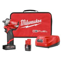 Milwaukee Tool - 2555-22 M12 FUEL Cordless Brushless Stubby Impact Wrench Kit